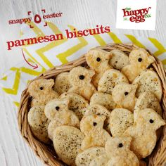 Parmesan and black pepper chick and egg biscuits: http://thehappyegg.co.uk/our-recipes/recipe/parmesan-and-black-pepper-chick-and-egg-biscuits