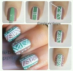 Pattern nail art