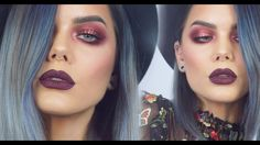 Burgundy Autumn look w. Huda Beauty Rose Gold Palette | Linda Hallberg M...