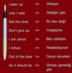 Vocabulary Journal, Turkish Lessons, Learn Turkish Language, Unusual Words, School Study Tips, Language Lessons, L Love You, English Words, Idioms