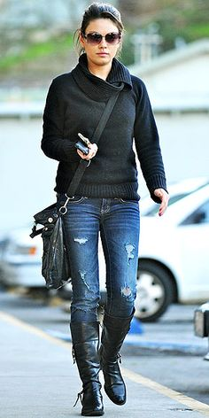 The Mila Kunis Look for Less Mom Outfits, Winter Outfits, Casual Outfits, Cute Outfits, Look Fashion, Winter Fashion, Womens Fashion, Tomboy Fashion, Estilo Mila Kunis