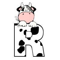 R Miniature Cows, Jack B, Cowboy Birthday, Western Parties, Alphabet And Numbers, Alphabet Letters, Cool Lettering, Letter Set, Cow Print