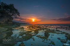 Dawn 2 - Sunset at Kencana Beach Sumbawa West Nusa Tenggara Indonesia.