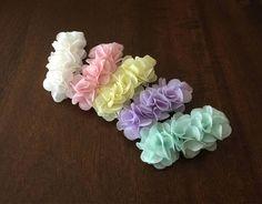 Baby hair clips chiffon flower hair clips baby girls Barrettes