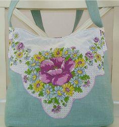 hankie and linen purse