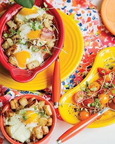 Baked Eggs with Pota