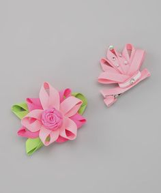 Take a look at this Little Princess Clip Set by Couture Hair Bows on #zulily today!