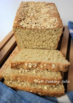 COOKING JULIA : PAIN DE MIE AUX FLOCONS D'AVOINE Pastry Display, Mini Pastries, Brioche Bread, Thermomix Desserts, Flaky Pastry, Easy Bread, Fruit Smoothies, Banana Bread, Breakfast Recipes
