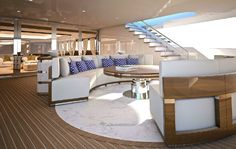 This is the Zenith from Sunrise yachts. It's a 50 millions dollar super yacht designed by Mulder design and Unique yacht design. Very unique indeed!!!