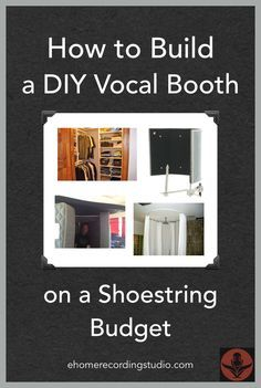 How to Build a DIY Vocal Booth on a Shoestring Budget www.Porta Booth Pro Easy DIY Remodeling Ideas On A Budget (before…Studio Build – Yaro J Recording Booth, Music Recording Studio, Music Studio Room, Audio Studio, Sound Studio, Studio Setup, Studio Ideas, Studio Design, Studio Layout