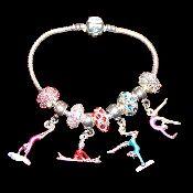 9bf499047 Gymnast Charm Bracelet | gymnastics | Pandora charms, Bracelets, Jewelry