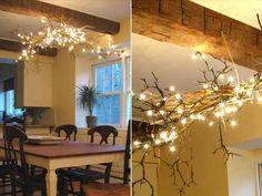 22 DIY Ideas For Rustic Tree Branch Chandeliers