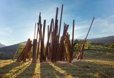 beam drop at inhotim by chris burden - designboom | architecture & design