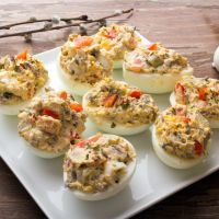 Stuffed Ranch Dressing Deviled Eggs