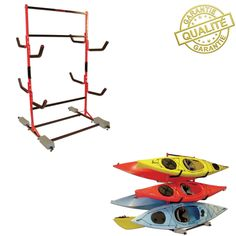 SUPPORT DE STOCKAGE MALONE FS POUR 6 KAYAKS