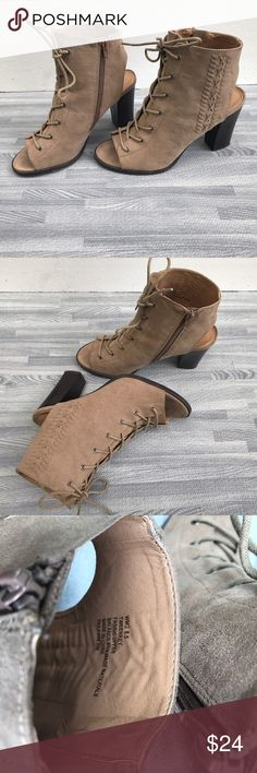 Cute lace-up Booties, so 8.5 Cute lace-up Booties, so 8.5. So CuTE! Great condition.  Worn only a couple of times Shoes Ankle Boots & Booties