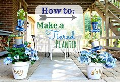 How to Make a Tiered Garden Planter - Add some personality to your outdoor space!