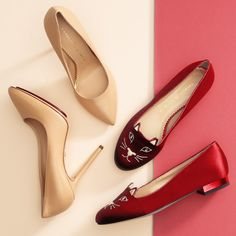 Kitty flats. Leopard pumps. Put Charlotte Olympia in your shoe closet.