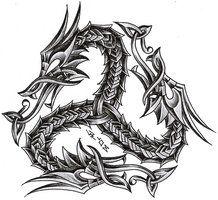 triskelion dragon by roblfc1892