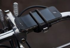 The Handleband secures your phone to your bike for easy access to maps, music, and more. #gadget #tech