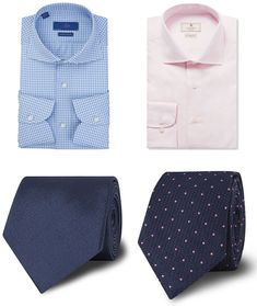 How To Pair Your Shirt And Tie: Men's Block Colours and Patterns Shirt and Tie Combinations