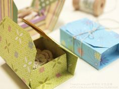 Box made with one piece of paper. Direction is in Korean but there are step by step photos