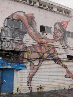 Herakut in Jaffa, Israel.