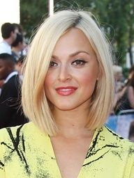 Angled bob cut.  I like this for if I ever decide to go short.