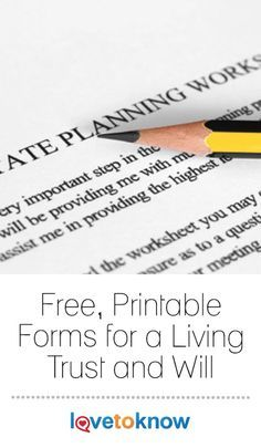 photo relating to Free Printable Estate Planning Forms identify Absolutely free Kinds for Dwelling Rely on and Will estate designing