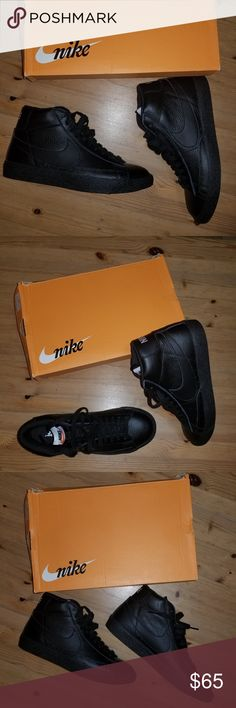 Nike Sneakers Nike Blazer Mid Mens Black  Size Mens 8 US 7 UK 41 EUR Nike Shoes Sneakers