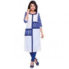Kurtis - Buy Designer Kurti Online For Women Off - IndiaRush Girls Kurti, Ethnic Kurti, Absolutely Gorgeous, Indian, Printed, Blue, Collection, Design, Women