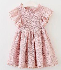 Pom Pom Dress---Blush Pink – Hazelnut Charm