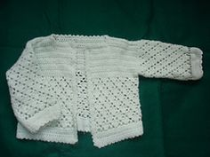 Ravelry: Sweet Baby Crocheted Baby Set pattern by Mary Jane Protus 0-3 6-9 months