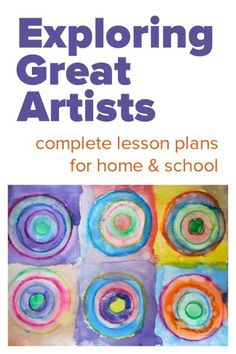 Complete art lessons for exploring great artists :: artist profiles, creative art projects, supply lists. 25 great artists.
