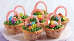 Epic egg hunt over? Why not reward them with MORE Easter Basket Cookie Cups!
