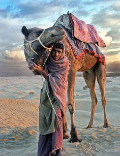 Sand dunes of the great India desert - thar desers of Jaisalmer