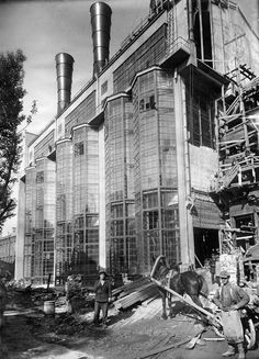 MoGES power plant under construction, Moscow, 1924