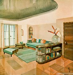 Art Deco Architectural Drawings from 1930s