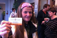 Sue Knighton, owner of Earth Angel Landscape & Property Maintenance at our October 2012 Networking Cafe.