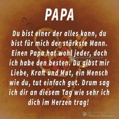 Papa, du bist einer der alles kann!