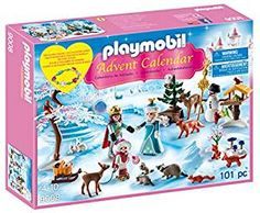 """Glide across the Frozen lake with the royal family! The Playmobil Advent calendar """"royal ice skating trip"""" contains twenty-four surprise items for each day leading up to Christmas. Lego City Advent Calendar, Playmobil Sets, Advent Calenders, Santas Workshop, Woodland Creatures, Forest Animals, Christmas 2017, Christmas Ideas, Plushies"""