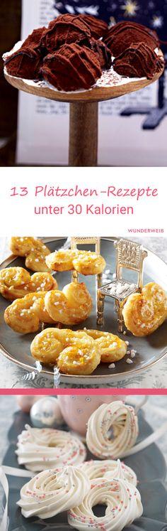 Diese Plätzchen-Rezepte haben alle nicht mehr als 30 Kalorien. #plätzchen #backen #weihnachtsbäckerei