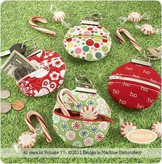 fabric key fobs free patterns | Key Fob Change Purse by Jennilee of www.DigiStitches.com, Designs in