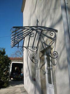 27 super images de marquise en fer forg porch roof canopies et wrought iron. Black Bedroom Furniture Sets. Home Design Ideas