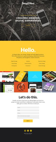 Dang and Blast - Flat Design Website