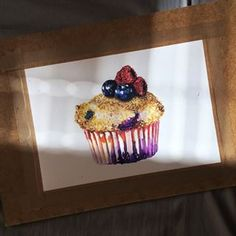 sweet muffin for looking for a job an an good illustrator, any info? Food Painting, Looking For A Job, Personal Portfolio, Food Drawing, Food Illustrations, Food Art, Illustrator, Muffins, Tasty