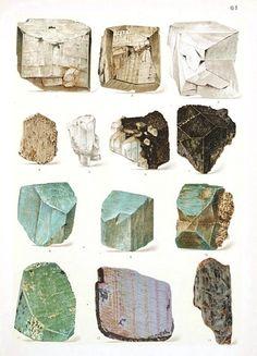 Plate 61 Reinhard Brauns' Das Mineralreich (The Mineral Kingdom). 1912