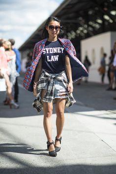 Going grunge, Sydney fashion week style. #streetstyle