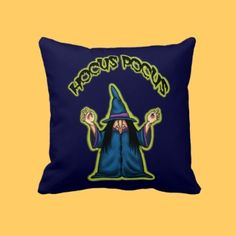 hocus pocus funny witch halloween pillow by frank_glerum_art
