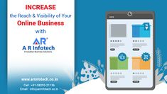 Increase the Reach & Visibility of Your Online Business with AR Infotech ✔️ Deep Analysis ✔️ Free Consultation ✔️ Experienced Team ✔️Guaranteed Results 😌 Hire Us Today👍 📞Call On: Best Web Development Company, Best Seo Company, Digital Marketing Services, Online Marketing, Successful Online Businesses, Create Website, Jaipur, Web Design, Deep